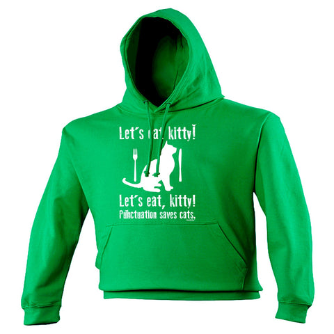 123t Let's Eat Kitty ! Punctuation Saves Cats Funny Hoodie