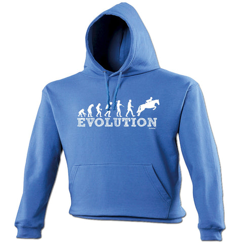 123t Evolution Horse Jumping Funny Hoodie