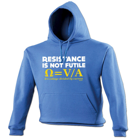 123t Resistance Is Not Futile Funny Hoodie