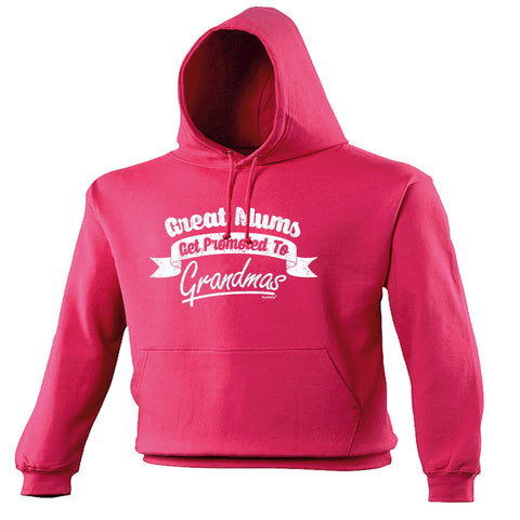 123t Great Mums Get Promoted To Grandmas Funny Hoodie
