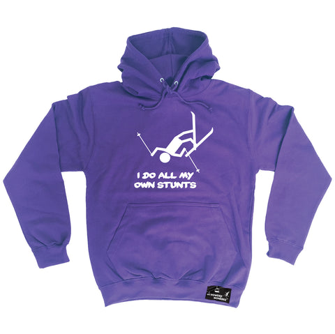Powder Monkeez I Do All My Own Stunts Ski Skiing Hoodie