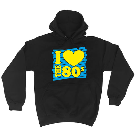 I Heart The 80s HOODIE Costume Retro Fancy Dress Disco eighties 80's birthday