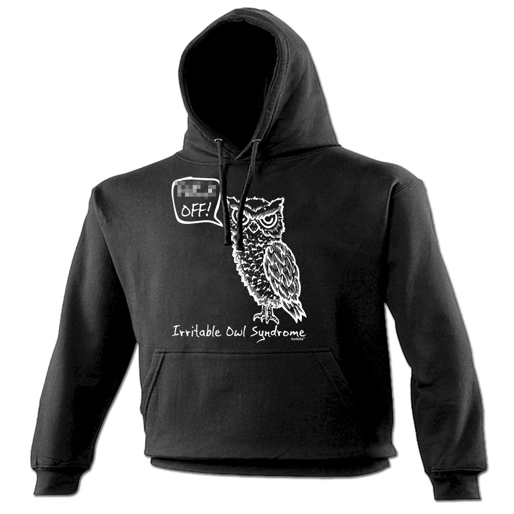 123t Irritable Owl Syndrome Design Funny Hoodie