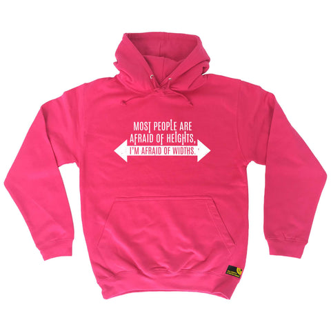 Sex Weights and Protein Shakes - Im Afraid Of Widths - Gym HOODIE
