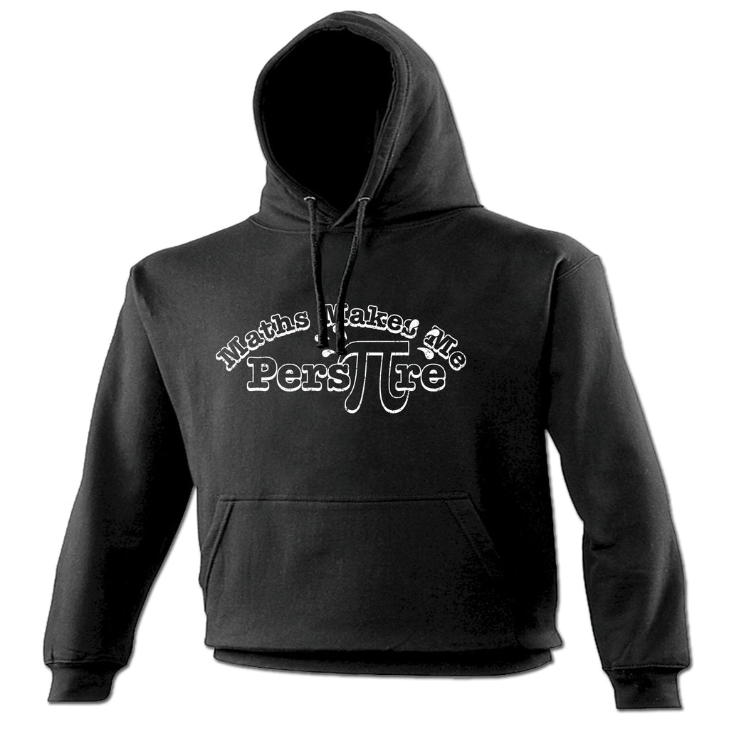 123t Maths Makes Me Perspire Funny Hoodie