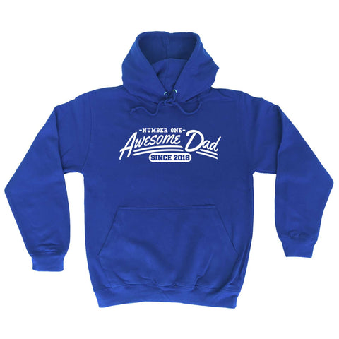 123t Number One Awesome Dad Since 2018 - HOODIE