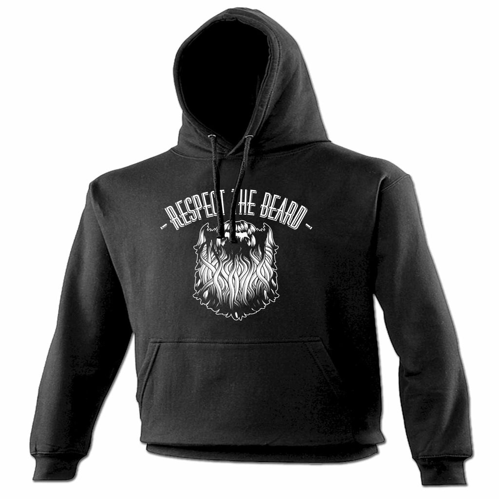 123t Respect The Beard Funny Hoodie