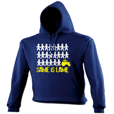 123t Same Is Lame Tractor Funny Hoodie