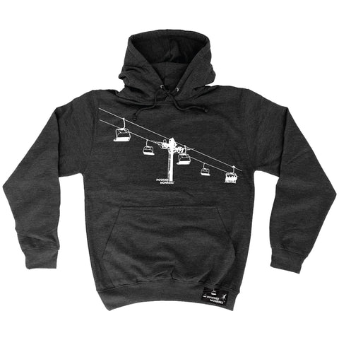Powder Monkeez Ski Lift Skiing Hoodie