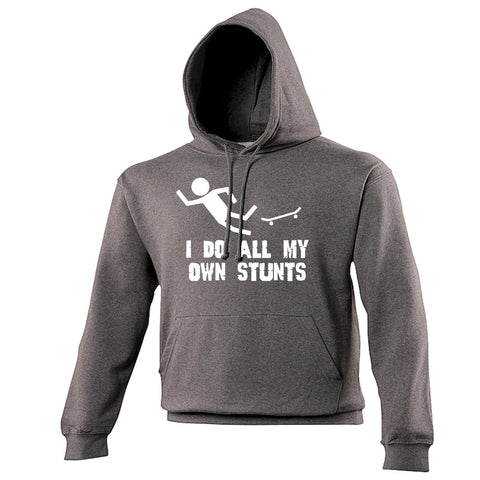 123t I Do All My Own Stunts Skate Funny Hoodie