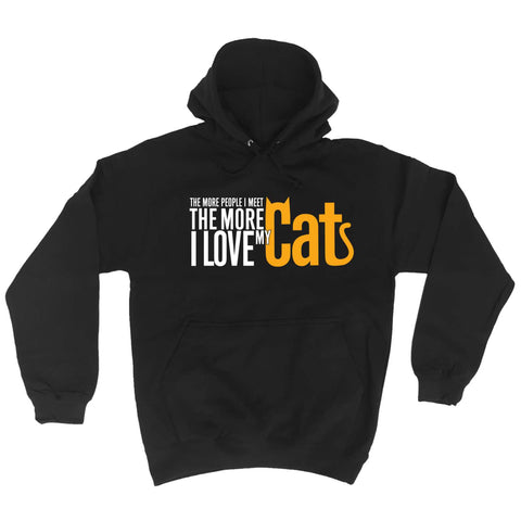 123t - The More People The More Love Cats - HOODIE