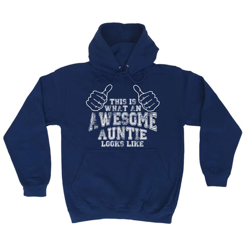 123t - What An Awesome Auntie Looks Like -  HOODIE
