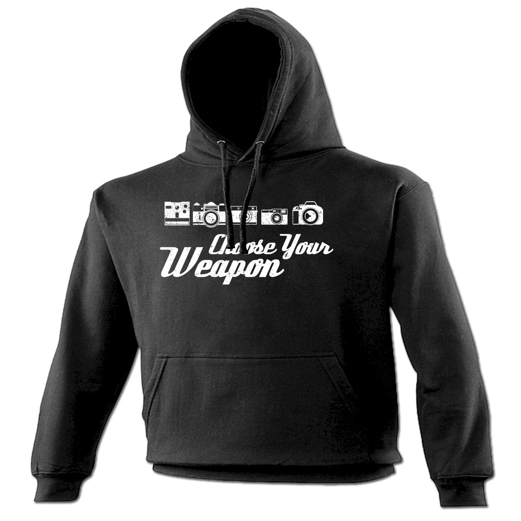 123t Choose Your Weapon (Photo) Funny Hoodie