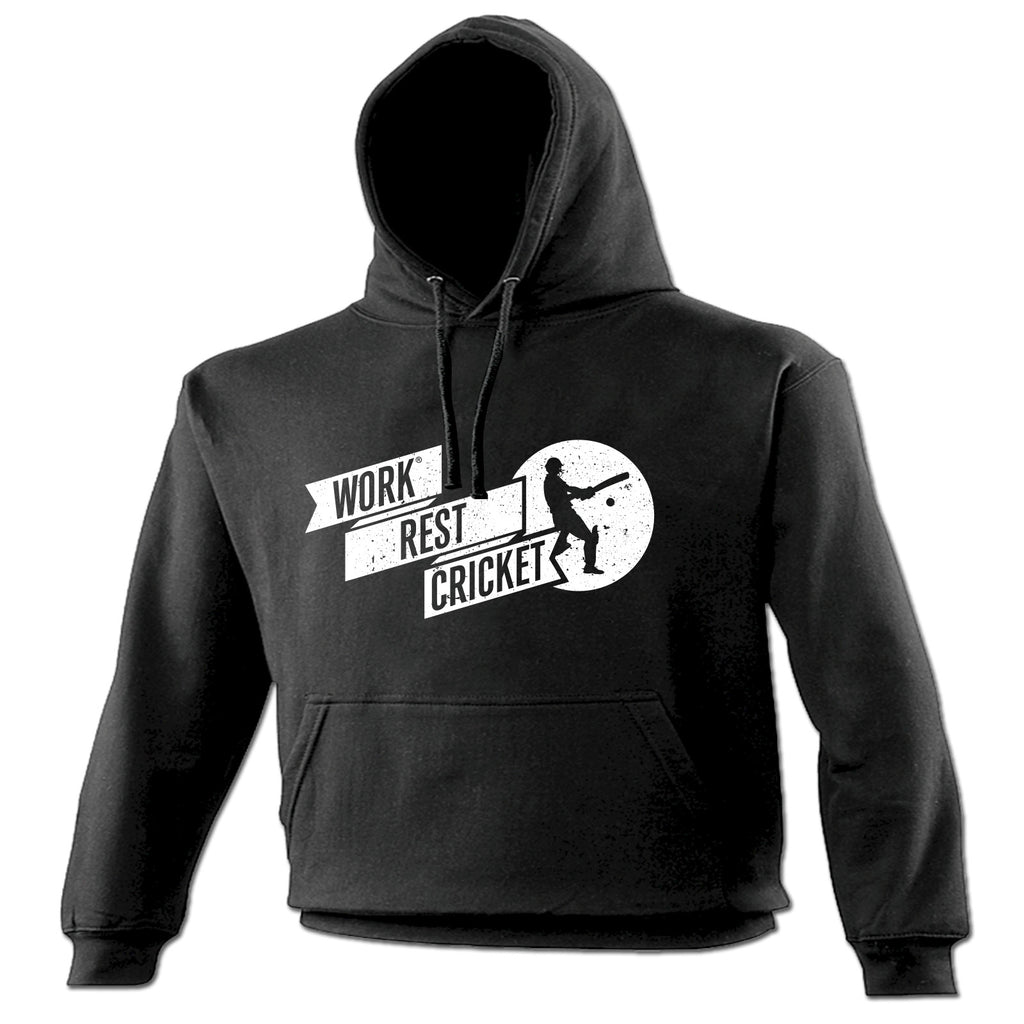 123t Work Rest Cricket Funny Hoodie
