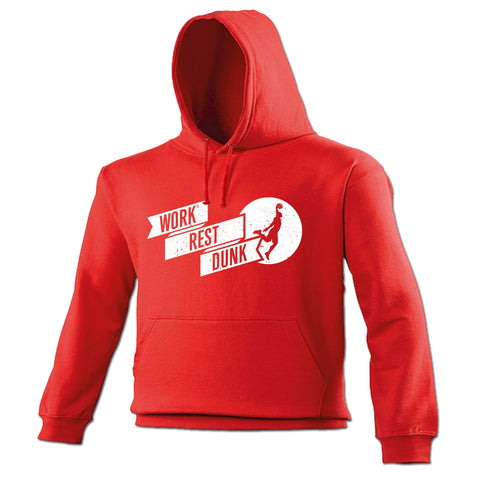 123t Work Rest Dunk Funny Hoodie