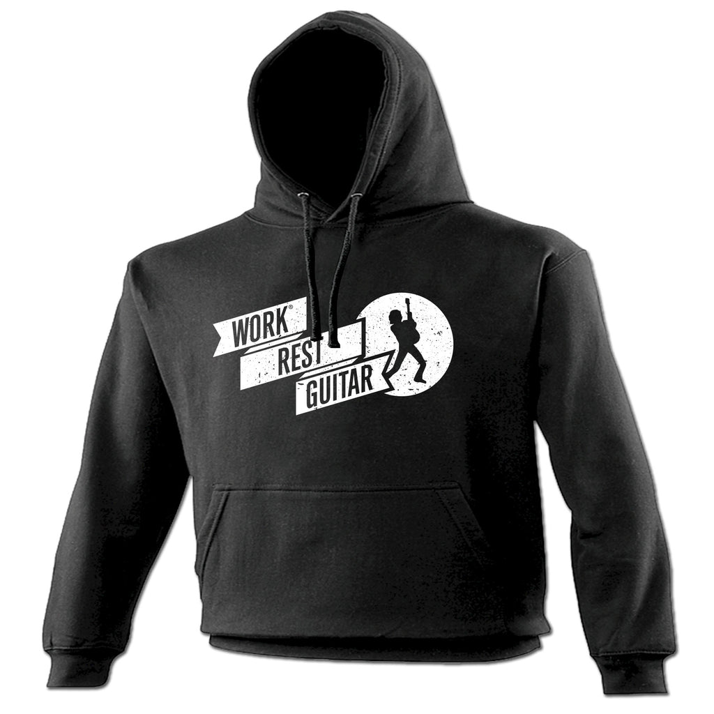 123t Work Rest Guitar Funny Hoodie