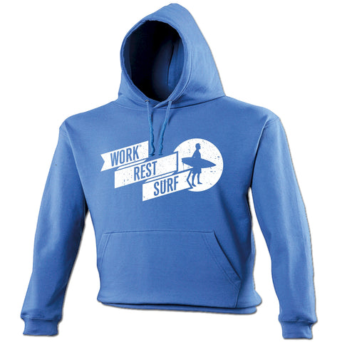 123t Work Rest Surf Funny Hoodie