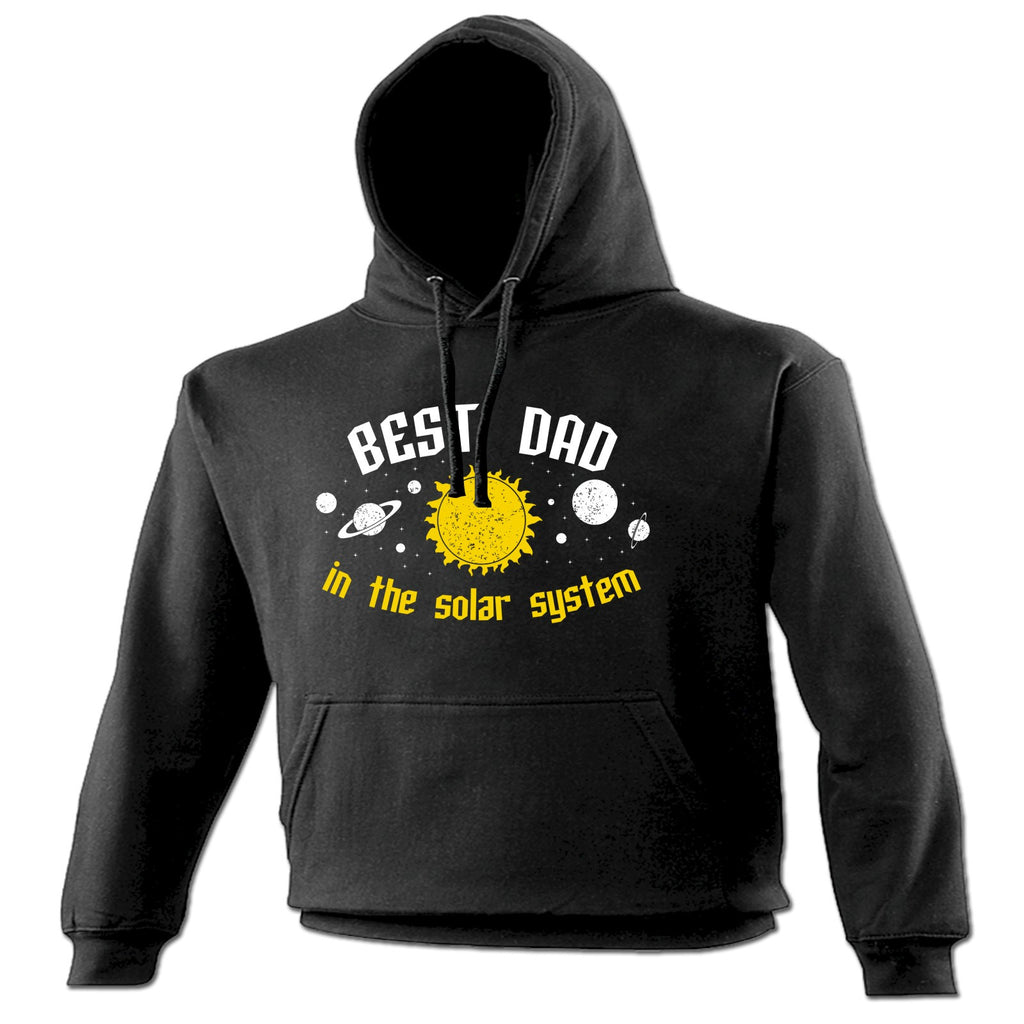 123t Best Dad In The Solar System Galaxy Design Funny Hoodie