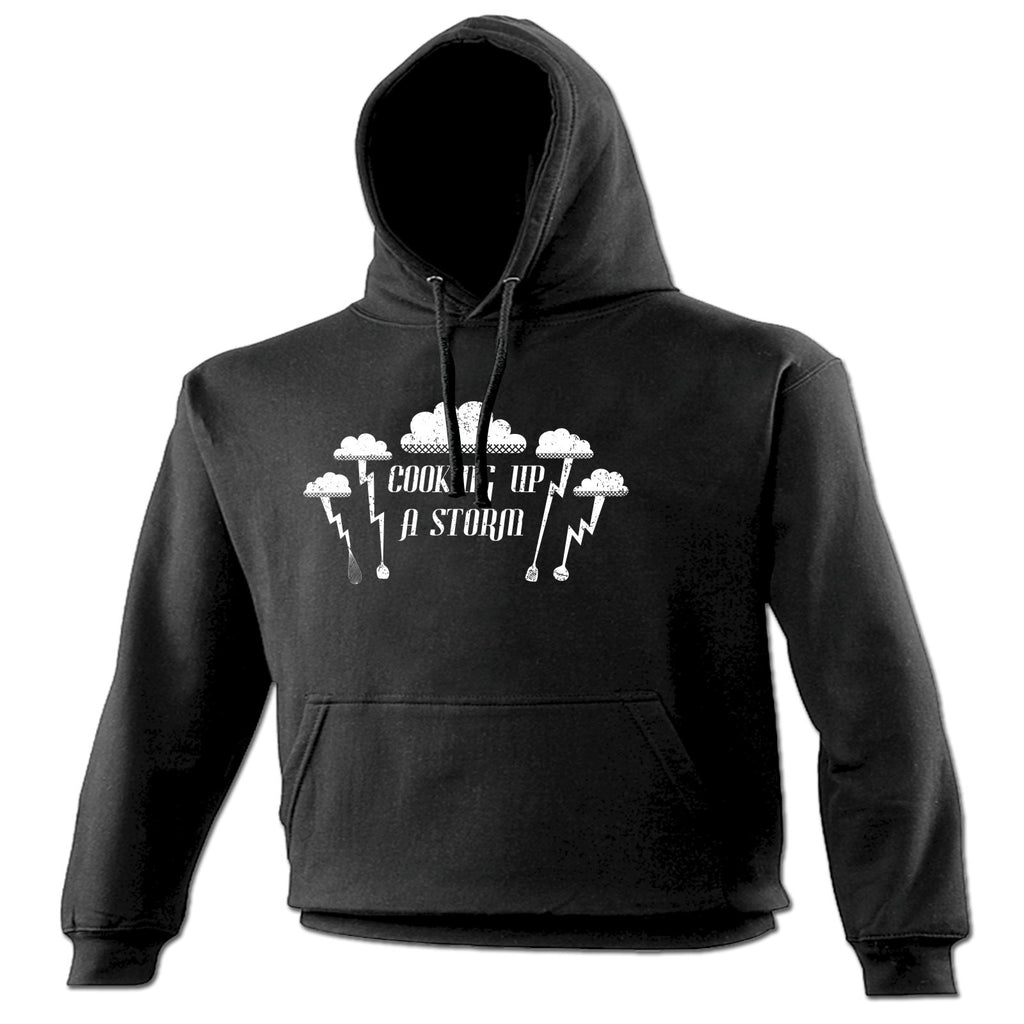 123t Cooking Up A Storm Lightning Cloud Design Funny Hoodie