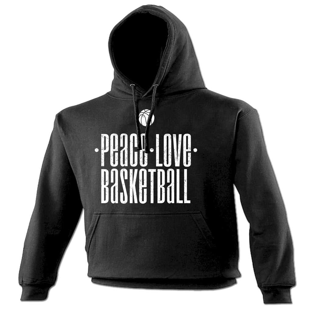 123t Peace Love Basketball Funny Hoodie, 123t