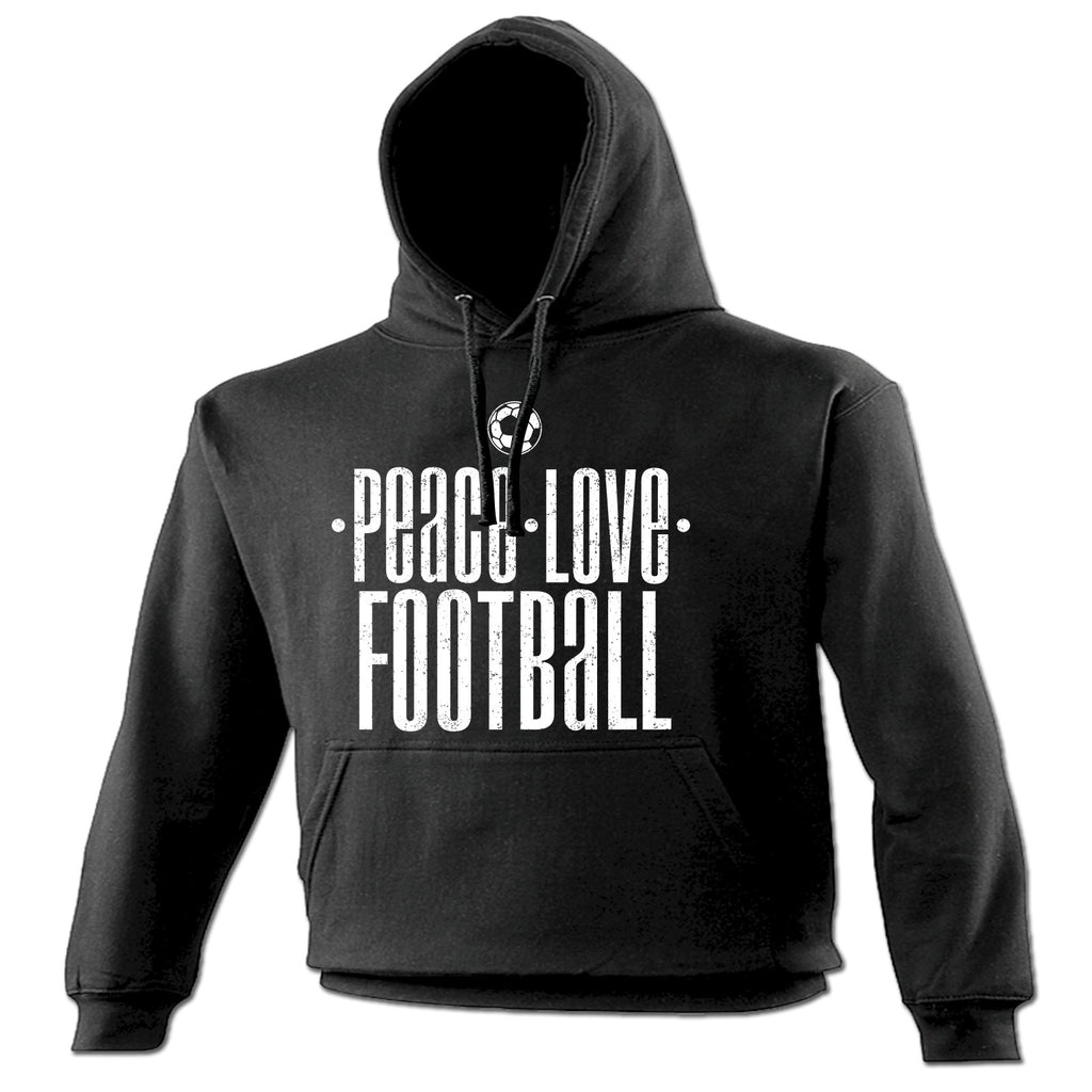 123t Peace Love Football Funny Hoodie