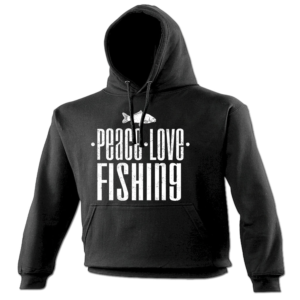 123t Peace Love Fishing Funny Hoodie
