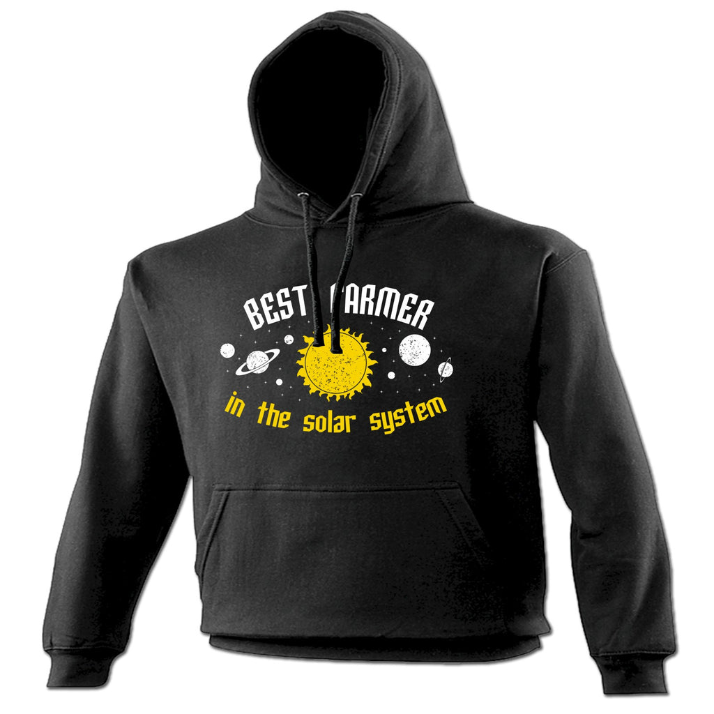 123t Best Farmer In The Solar System Galaxy Design Funny Hoodie, 123t