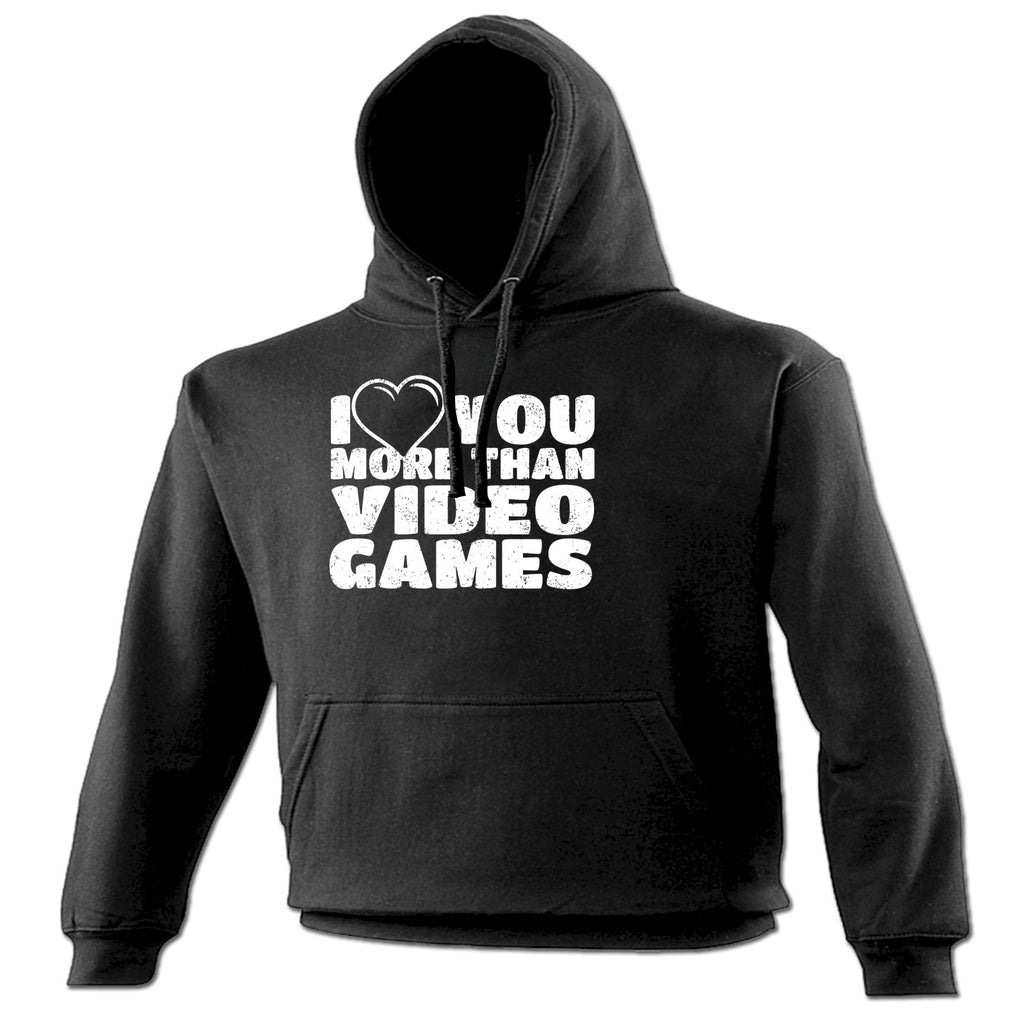 123t I Love You More Than Video Games Heart Design Funny Hoodie