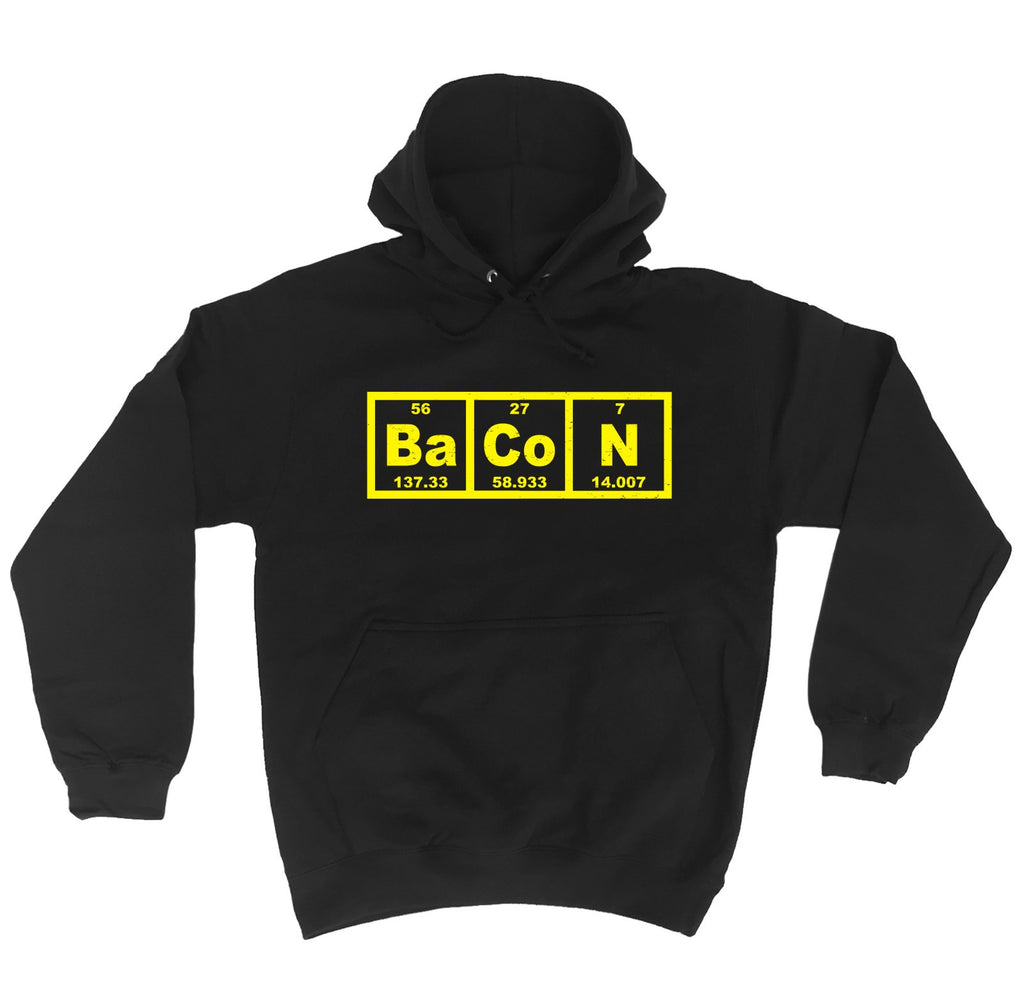 123t Bacon Periodic Element Funny Hoodie