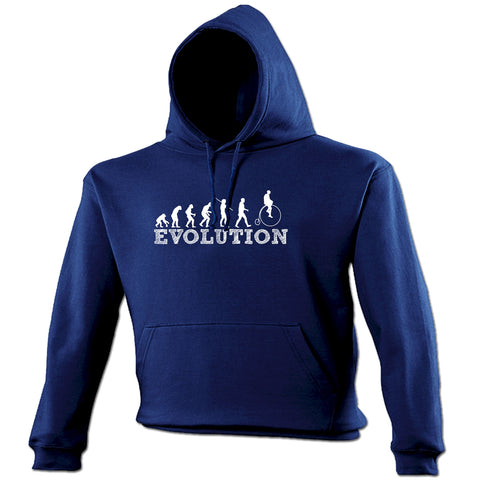 123t Evolution Penny Farthing Funny Hoodie