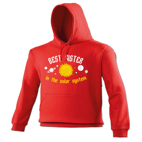 123t Best Sister In The Solar System Galaxy Design Funny Hoodie