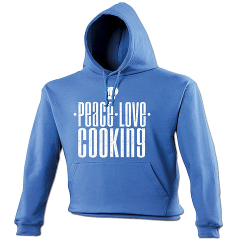 123t Peace Love Cooking Funny Hoodie, 123t