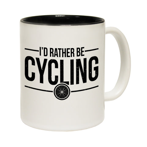 Ride Like The Wind I'd Rather Be Funny Cycling Mug