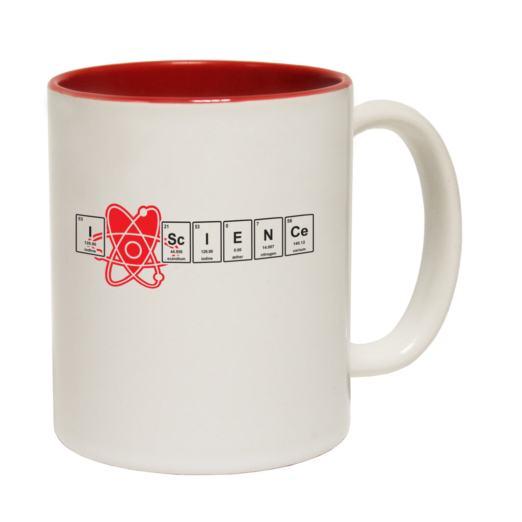 123t I Heart Science Funny Mug