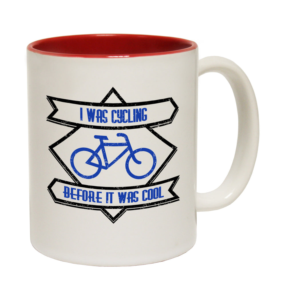 Ride Like The Wind I Was Cycling Before It Was Cool Funny Cycling Mug