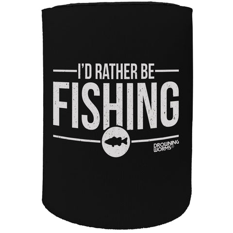 123t Stubby Holder - Id Rather Be Fishing - Funny Novelty Birthday Gift Joke Beer Can Bottle