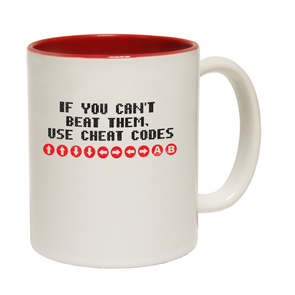 123t If You Can't Beat Them Use Cheat Codes Funny Mug