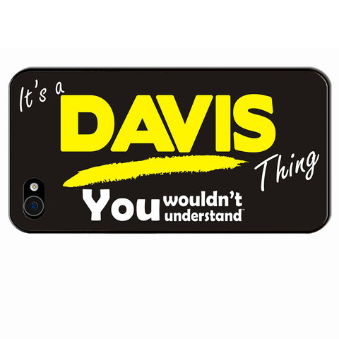 123t It's A Davis Thing You Wouldn't Understand iPhone Cover ( All Models )
