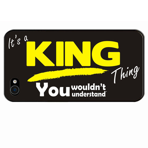 123t It's A King Thing You Wouldn't Understand iPhone Cover ( All Models )