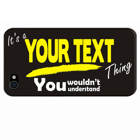 123t Custom Surname Thing iPhone Cover ( All Models ) - 123t clothing gifts presents