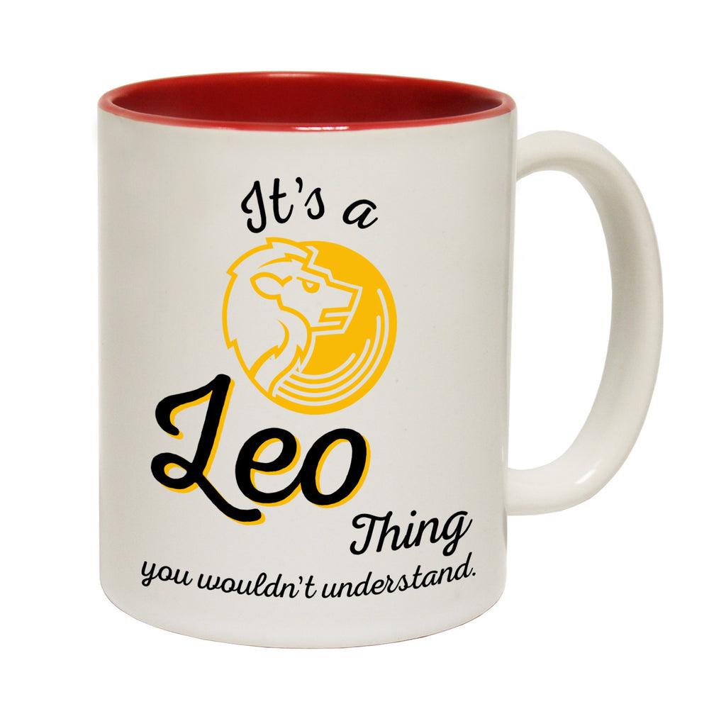 123t It's A Leo Thing Starsign Funny Mug