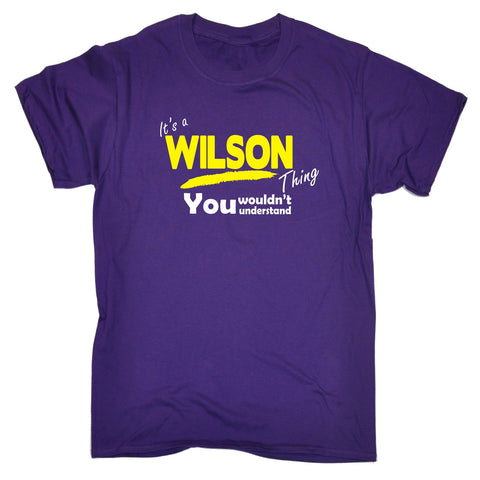 123t Kids It's A Wilson Thing You Wouldn't Understand Funny T-Shirt Ages 3-13