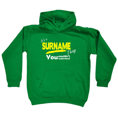 123t Kids Custom Surname Thing You Wouldn't Understand Hoodies Ages 1-13