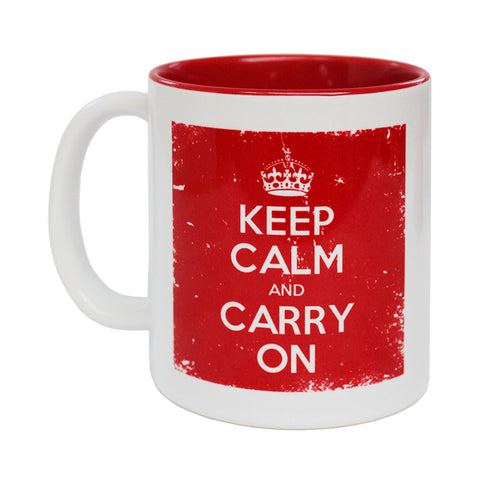 Official Keep Calm and Carry On British White Border Mug