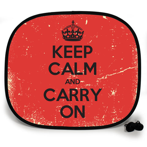 Official Keep Calm and Carry On UV Protection Car Sunshade