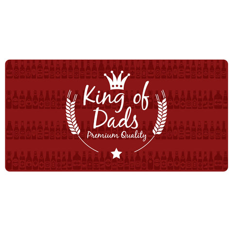 123t King Of Dad's Personalised Funny Custom Bar Runner