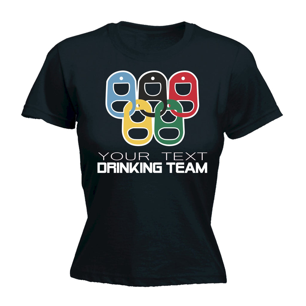 123t Women's Drinking Team YOUR TEXT HERE PERSONALISED - FITTED T-SHIRT