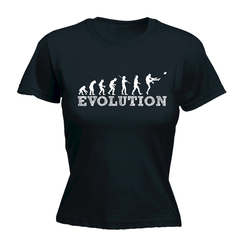 123t Women's The Evolution Of  AFL FOOTIE Football - FITTED T-SHIRT