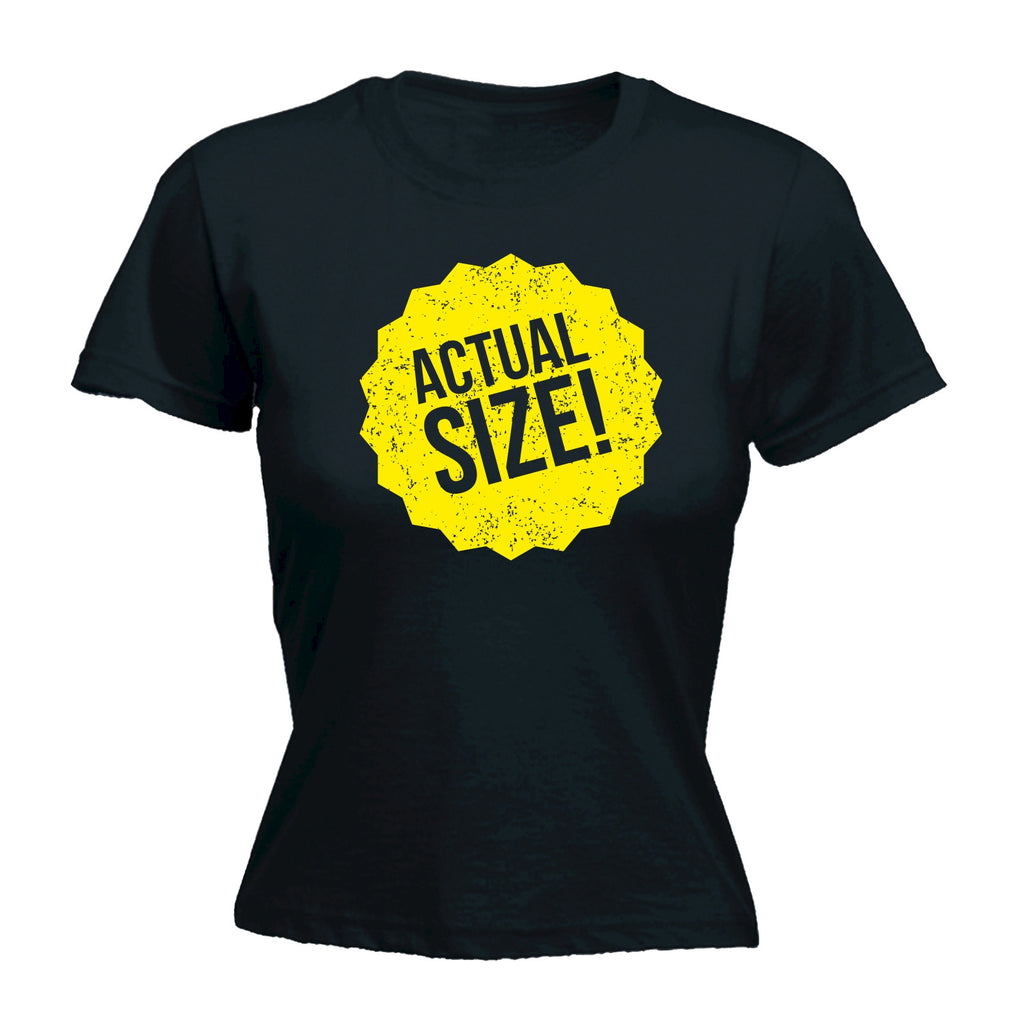 123t Women's Actual Size Sticker Design Funny T-Shirt