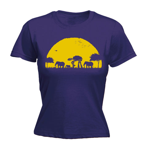 123t Women's ATAT Sunset Design Funny T-Shirt